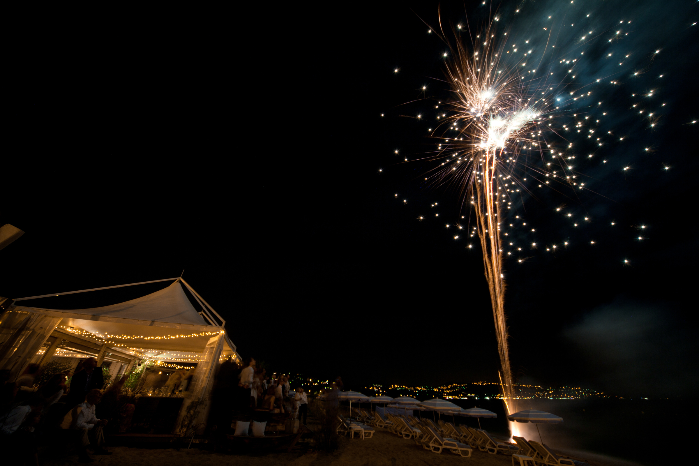 Wedding Fireworks, Cote d'Azur