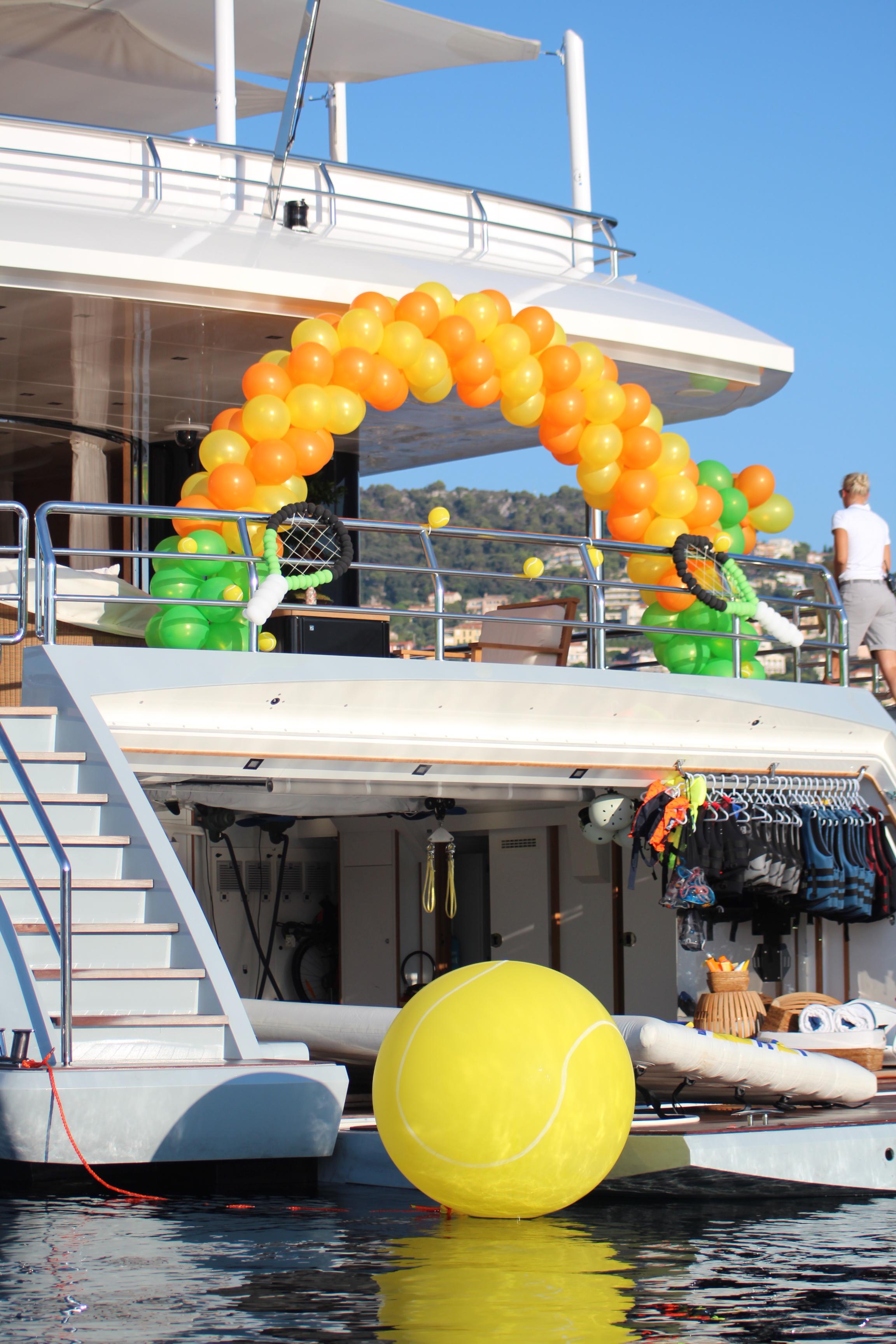 Tennis Theme 50m Yacht Party.JPG