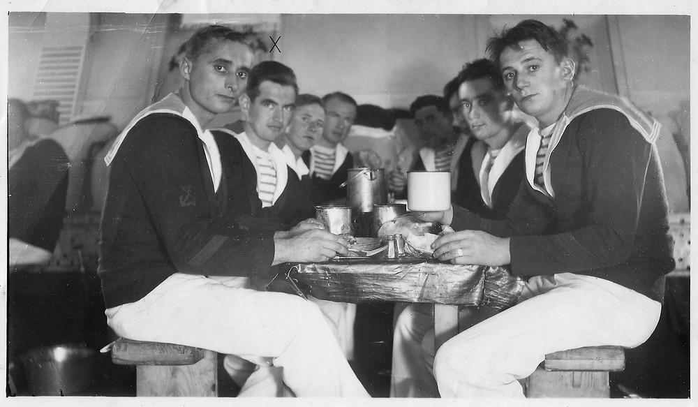 repas, marins, Casablanca, marine, années 30