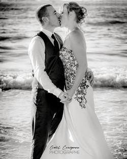 mariés dans l'eau