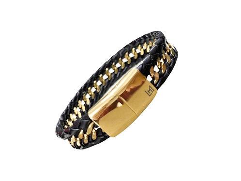LM Leather & Link Bracelet