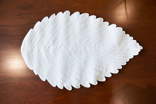 Leaf Placemat - White
