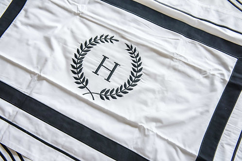 Monogrammed Accent Sham - H (Pair) - Ready Stock