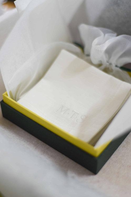 Cotton Linen Hankie in Petit Box