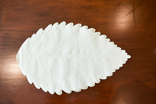 Leaf Placemat - Bone