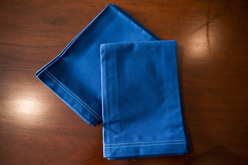 Double Stitch Napkin - Royal Blue