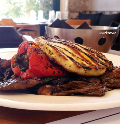 Grilled Veggie Salad with Talagani Cheese