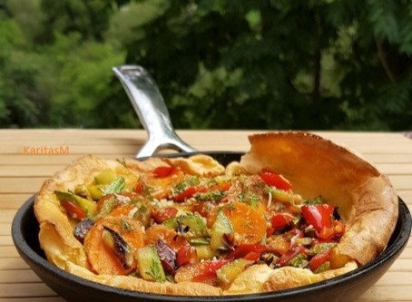 Dutch Oven Pancake with Veggies!
