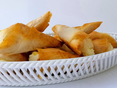 Tiropitakia - Phyllo Cheese Triangles!