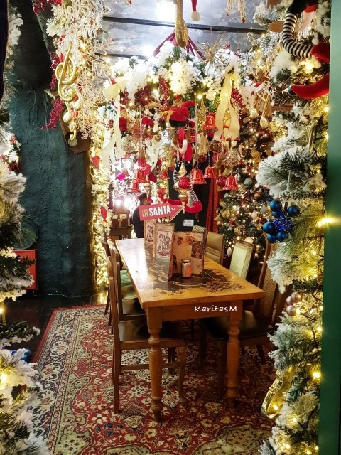 Room with Xmas decorations
