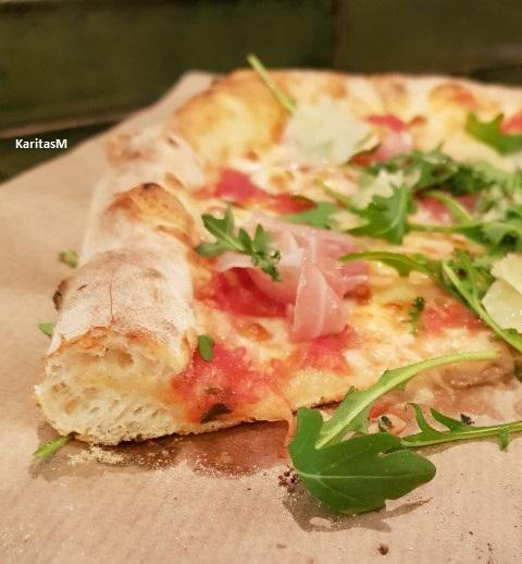 Delicious pizza slice