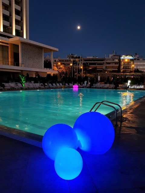 Night Swimming at the Athens Hilton Hotel