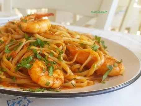 Pasta with Jumbo Shrimp!