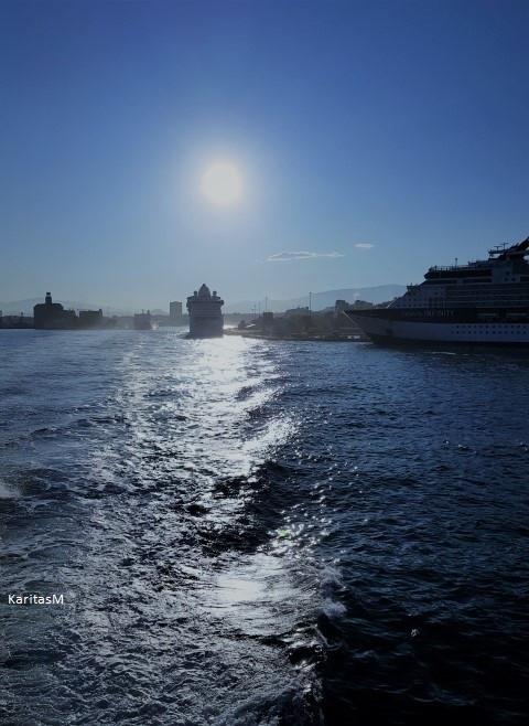 Early morning departure from Piraeus