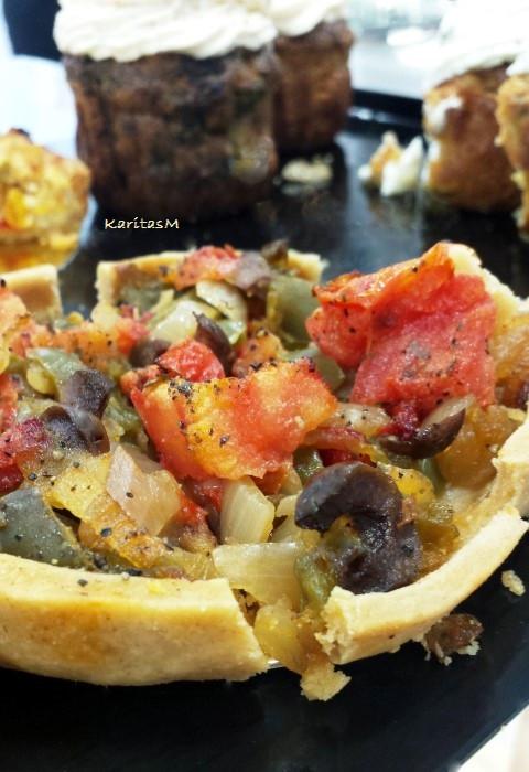 Low calorie vegan quiche pie