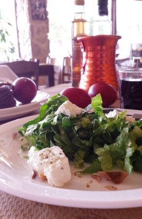 Typical green Salad with Feta cheese