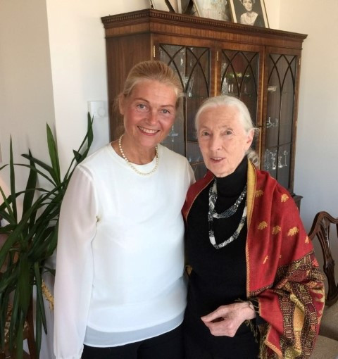 KaritasM with Dr. Jane Goodall in Iceland - June 2016