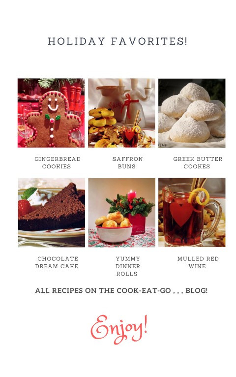 Holiday Favorites that can be found on Website Blog