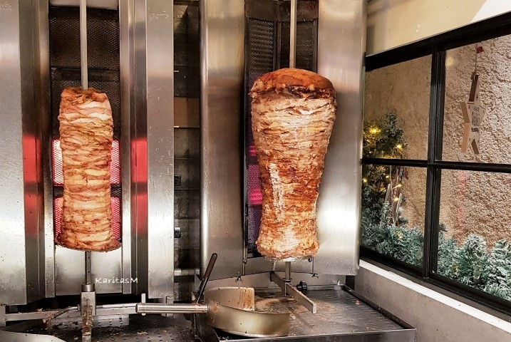 Chicken & Pork Gyros - ready to be sliced!