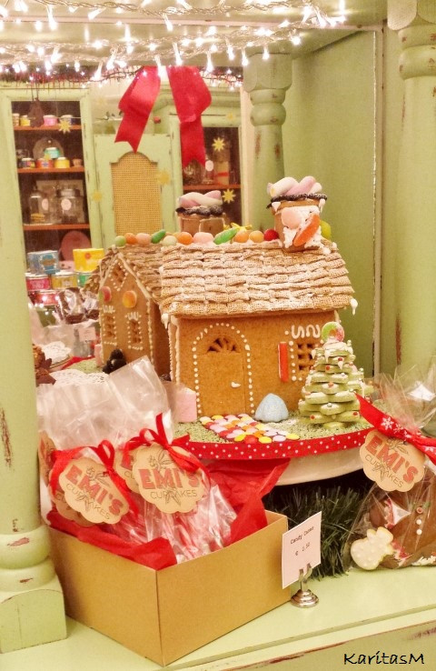 Gingerbread House at Emi's Cupcakes in Kolonaki