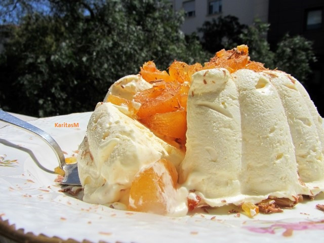 Scrumptious orange parfait . . . starting to melt!