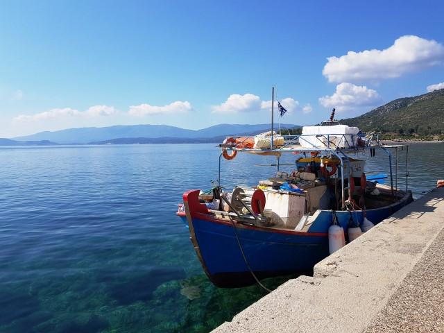 Methana town seafront promenade