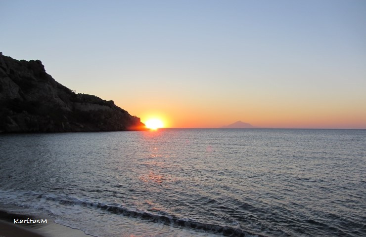 One of many beautiful sunsets in Greece!