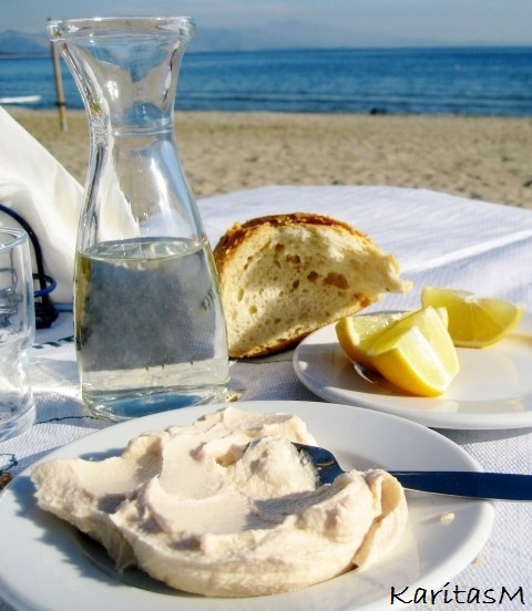 Taramasolata at the beach - a great meze!