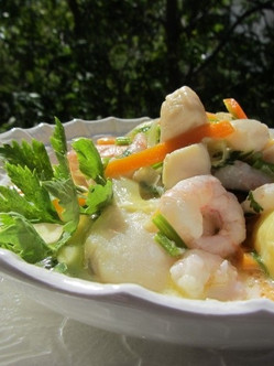 Fish Stew with or without Scallops!