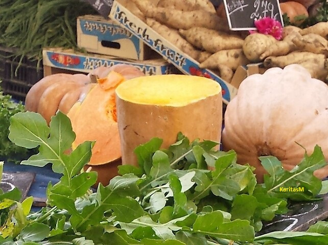 Pumpkin on display at my local farmer's market.