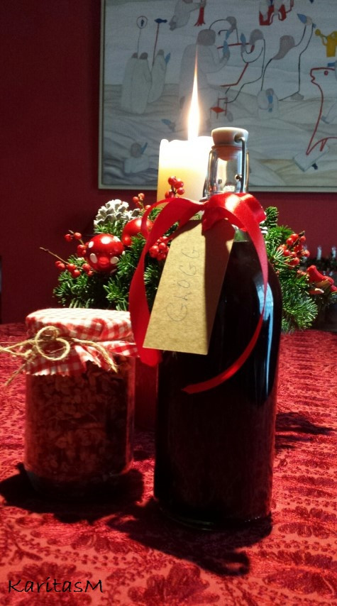 Glogg as Xmas Gift in bottle!
