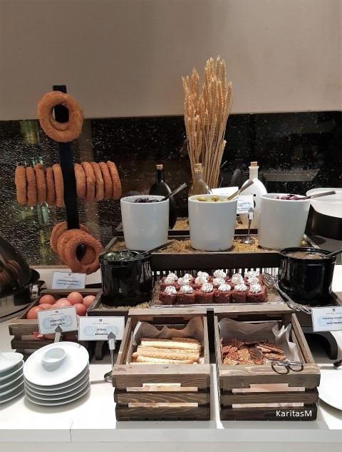 A small part of breakfast buffet