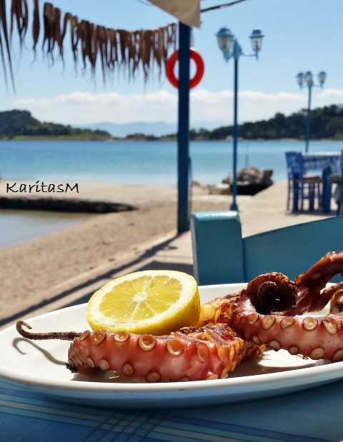 Grilled Octopus - YUM!