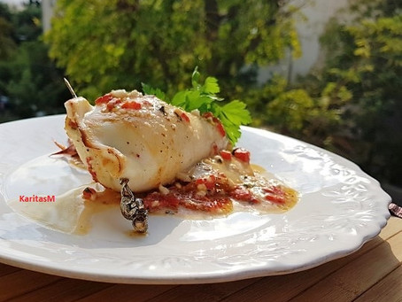 Tempting Feta Stuffed Squid!