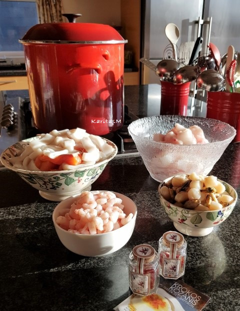 Cooking Fish soup with truly fresh Icelandic seafood
