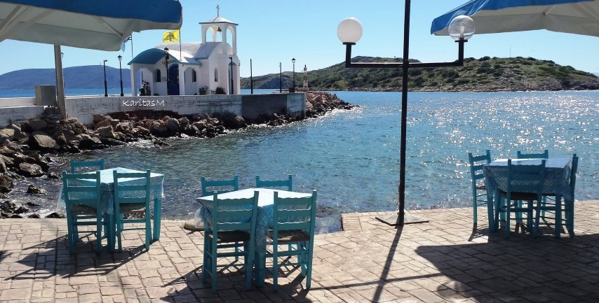 Seafront view from Mouragio Fish Tavern