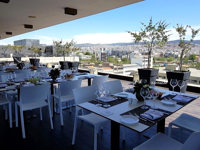Easter lunch set up at rooftop-next to pool!