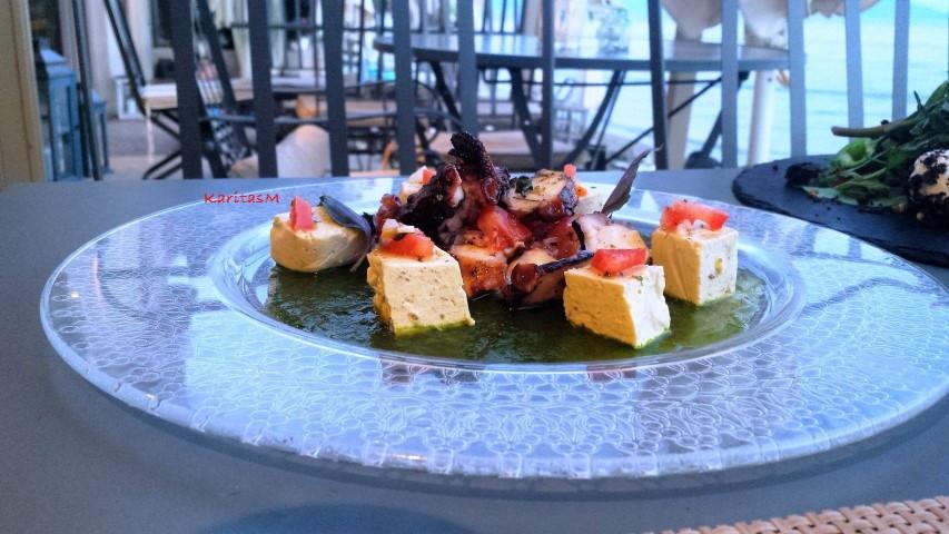 Octopus Salad with Eggplant Terrine