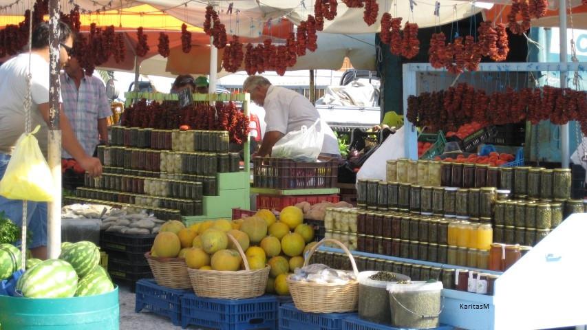 Tinos local farmer's market