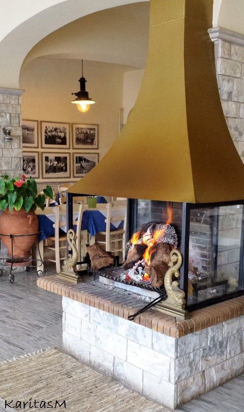 Lovely indoor fireplace . . . great for winter!