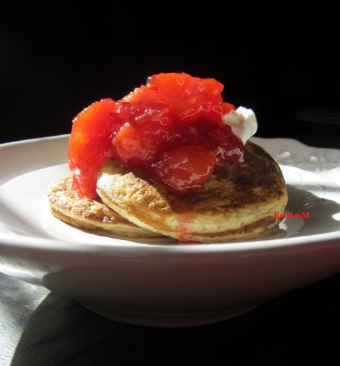 Blinis with Plum Compote