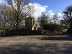 Car park towards church