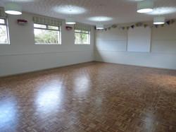 Hall interior, refurbished floor