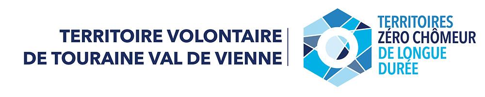Logo territoire zéro chômeur longue durée + val de vienne territoire volontairet