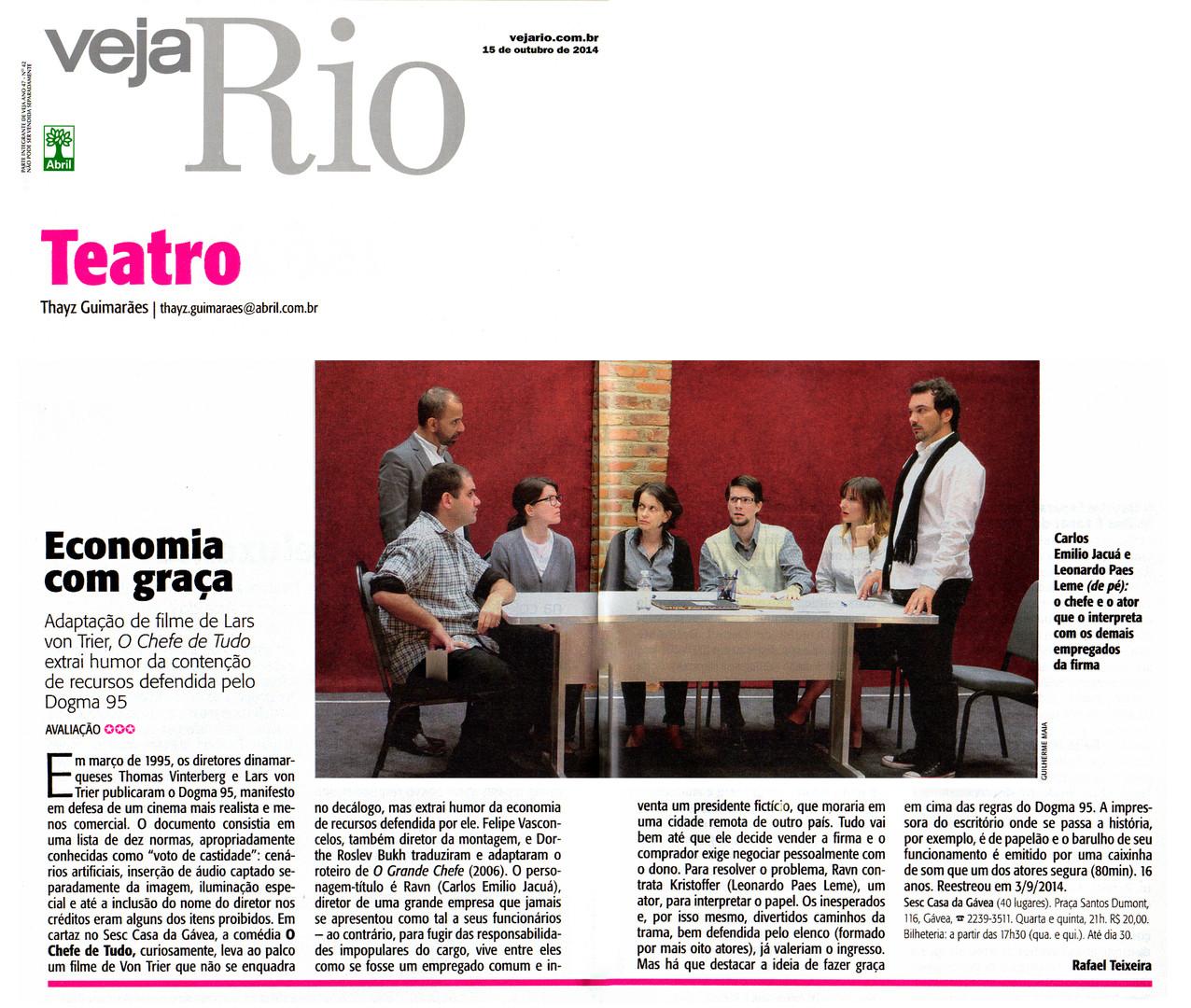 VEJA RIO | Teatro | 15.10.2014