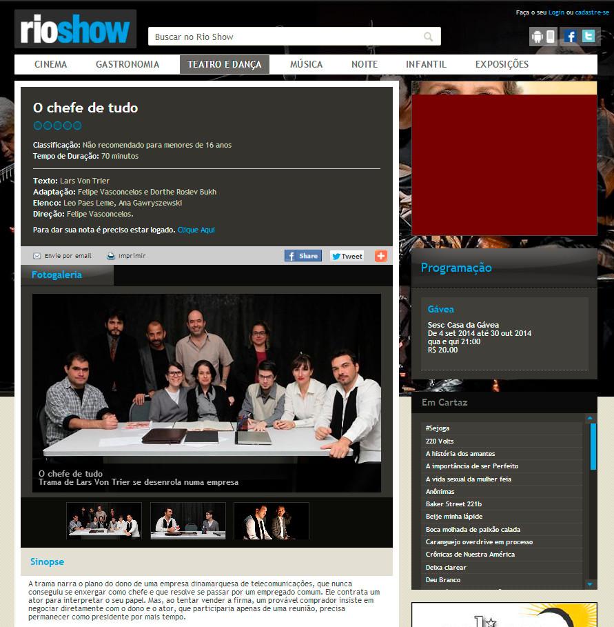 O GLOBO | Rio Show Digital
