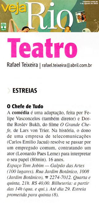 VEJA RIO | Teatro | 07.08.2013