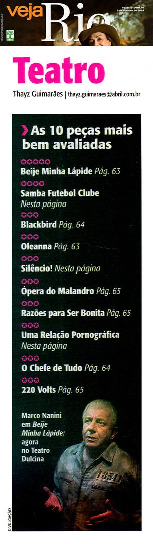 VEJA RIO | Teatro | 08.10.2014