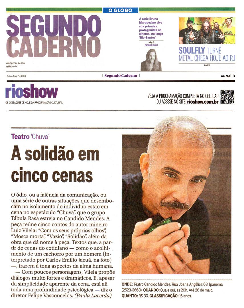 O GLOBO | Segundo Caderno | 07/04/2016