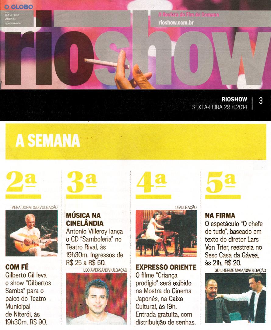 O GLOBO | Rio Show | 29.08.2014